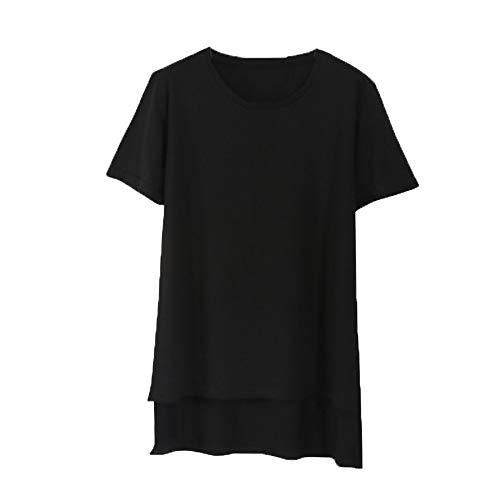 Tayaho Moda Maglietta per Gravidanza Donna Maternity Top Maglietta da Donna Incinta T-Shirt Manica Corta Bluse Allentato Black