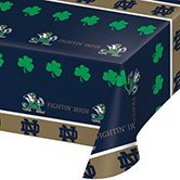 Party Central 12 NCAA Notre Dame Fightin' Irish Tailgating Banquet Table Cloths - 54