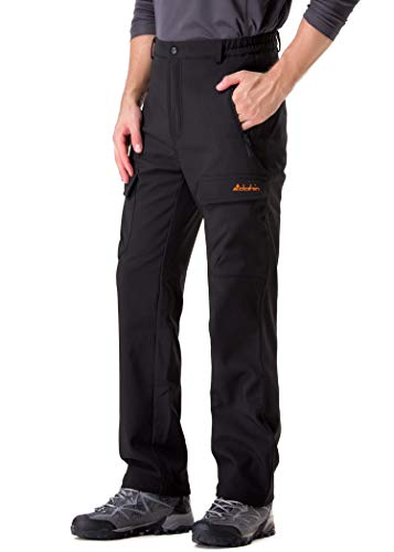 Clothin Men's Fleece-Lined Ski Cargo Pants - Warm, Breathable, Water and Wind-Resistant
