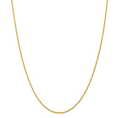 10k Yellow Gold 1.5mm Parisian Wheat Chain 30in Necklace by Diamond2Deal