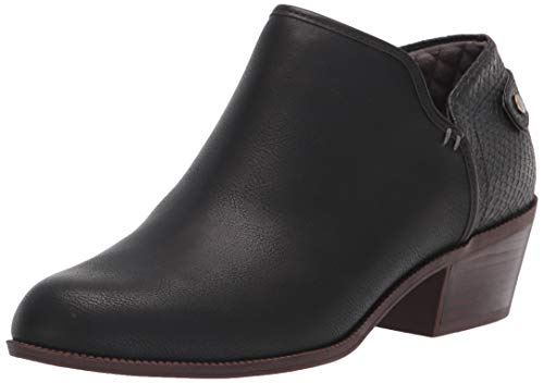 Dr. Scholl's Shoes Women's Better Ankle Boot, Black Smooth, 6.5 Wide