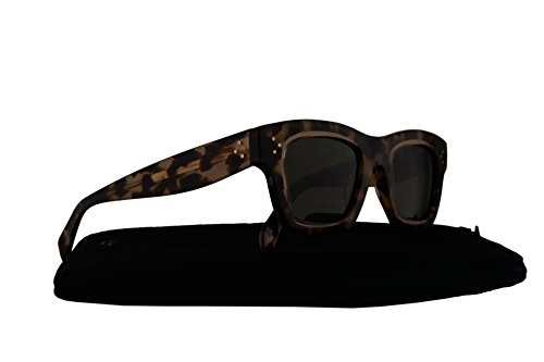 Celine CL41396/S Sunglasses Crystal Brown Marble w/Green Lens T7H1E CL - Sunglasses Sale Celine