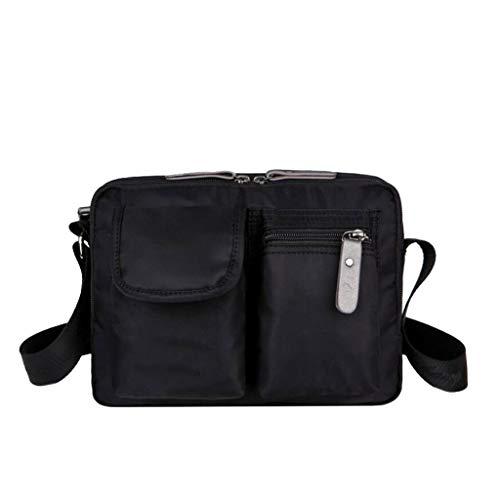 Poches Bleu Nylon Satchel 7 Unisexe 10 Travail couleur Voyage Loisirs Bag Multi 93 Size Sports One Messenger Vacances Épaule 23 08 3 Noir Pouces Taille InI4RFp