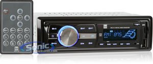 Dual Electronics XR4115 Multimedia Detachable Mechless LCD High Resolution Single DIN Car Stereo Receiver with Built-In USB, SD Card, MP3 & WMA ()