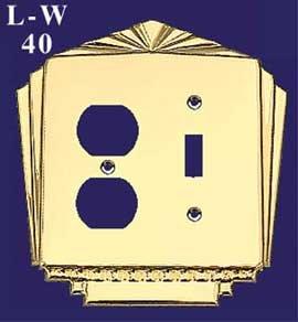 アールデコRecreatedプラグ&ライトスイッチコンボスイッチプレートカバー( B00DC6EL5O l-w40 l-w40 ) ) B00DC6EL5O, ウォーターカヌー専門店バイエルン:fc1baa6e --- number-directory.top