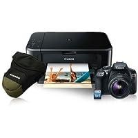 Cámara Canon EOS Rebel T6 con EF-S 18-55mm Kit Impresora (Estuche+Pixma MG3610+SD 16GB)