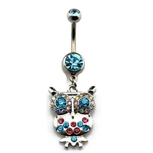 Fashion Nice Belly Button Rings Steel Gold Moon Snow Heart Dangling Body Jewelry,Gold Diamond