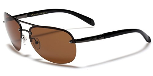 Polarized Rimless Aviator Fishing Golf Driving Sunglasses - Gray (Brown - Xloop Aviator Sunglasses