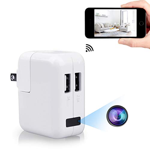 Cheap WiFi Spy Charger Camera,ZZCP Wireless HD USB Wall Hidden Nanny Cam with Remote View and Loop Recording,Perfect Indoor Covert Security Camera for iPhone iOS/Android Smartphone