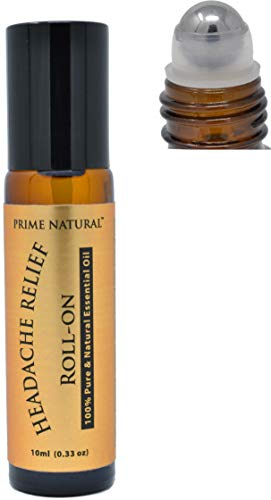 Headache Relief Essential Oil Roll On 10ml, Pre-Diluted, Ready to Use Roller for Tension, Calming & Soothing, Sore Muscles