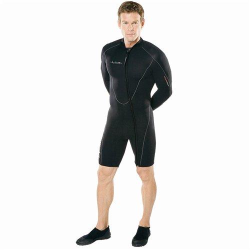 (Henderson Mens 7mm Front Zip Thermoprene Long Arm Jacket (Black, X-Large))