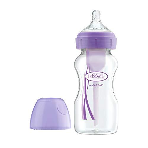 Dr. Brown's Options + fles met brede hals, 270 ml, violet