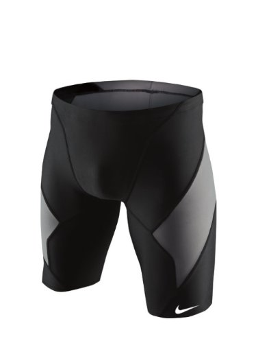 Nike Men's Victory Color Block Swim Jammer 34 Black