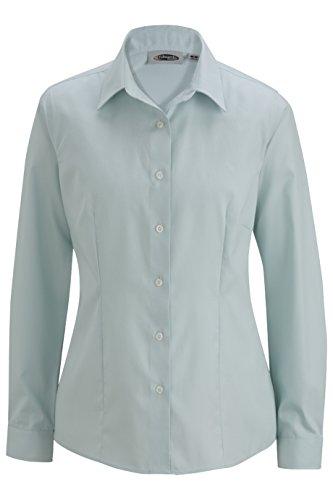Edwards Women's Oxford Non-Iron Long Sleeve Blouse Shirt, Sea Spray, L