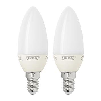 ikea ryet led lampen in opalwei kerzenfrmig e14 200 lm 2 - Ikea Led Lampen