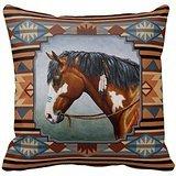 Native American War Horse Throw PillowsCustomized Square Custom Throw Pillow Case Cushion Cover Pillowcase Pillow Cover 18x18