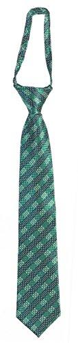 17 Inch Zipper Ties (Imani Uomo Pattern Boys Adjustable Zipper Tie (Toddler 10