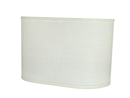 Aspen Creative 37051 Transitional Oval Hardback Shaped Spider Construction Lamp Shade in Off-White, Wide (9 16 1/2