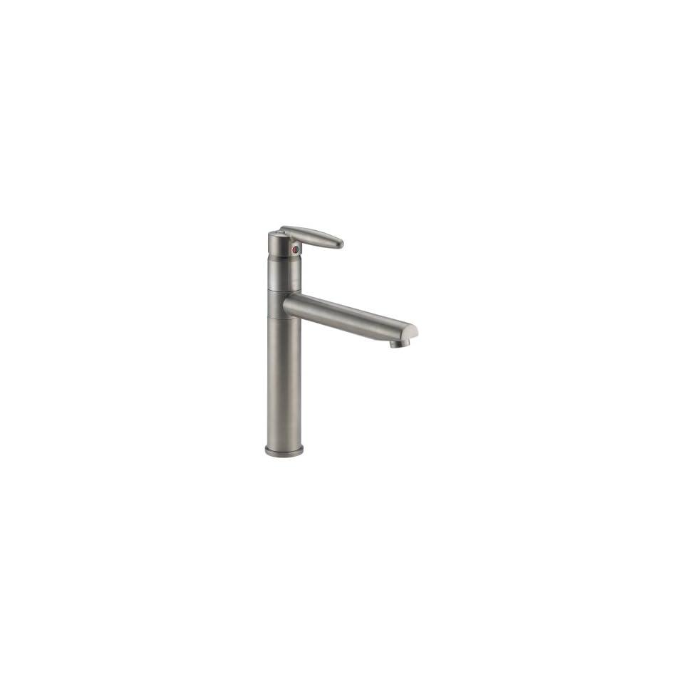 Delta Faucet 185 SS Grail Single Handle Kitchen Faucet, Stainless