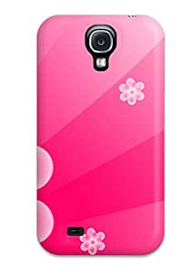 S4 Scratch-proof Protection Case Cover For Galaxy/ Hot Pretty Pink Floral Phone Case