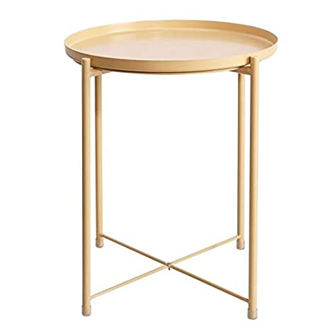 Amazon.com: Jcnfa-Tables - Mesa auxiliar de metal para sofá ...