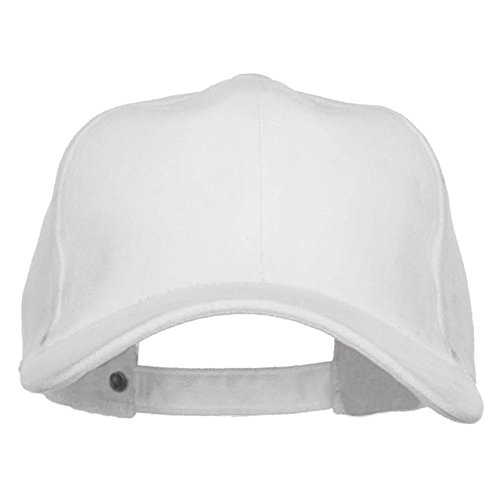 Structured Faux Suede Cap - White OSFM