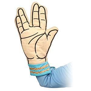 Star Trek Spock Oven Mitt - Live Long And Dont Burn Your Hands