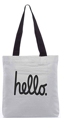 Snoogg hatten mich an hallo 13.5 x 15 Zoll-Shopping-Dienstprogramm-Einkaufstasche aus Polyester-Segeltuch gemacht