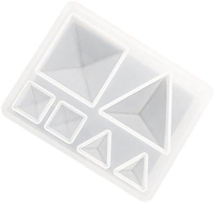 dailymall ピラミッド型カボションペンダントチャーム金型樹脂鋳造金型DIYジュエリー作りネックレスブレスレットイヤリング