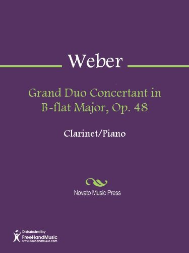 - Grand Duo Concertant in B-flat Major, Op. 48 - Clarinet