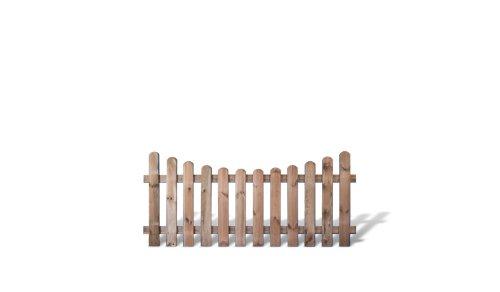 Preishammer günstiges Zaunpaket 5 x Vorgartenzäune + Friesenzäune im Maß 180 x 80 auf 65 cm (Breite x Höhe) aus Kiefer/Fichte Holz, druckimprägniert Günstig & Gut