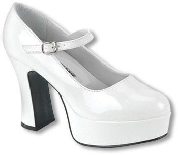 Mary Janes Pompes Blanc L 39 à 40