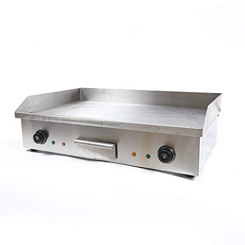 4400W Heavy Duty Restaurant Tabletop Flat Top BBQ Grill Machine Stainless Griller Equipment Kitchen Hotplate with Adjustable Temperature Control Commercial Electric Countertop Griddle