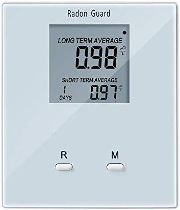Home Radon Detector, Elifecity Portable Radon Meter, Long and Short Term Home Radon Monitor, Battery-Powered, Easy-to-Use