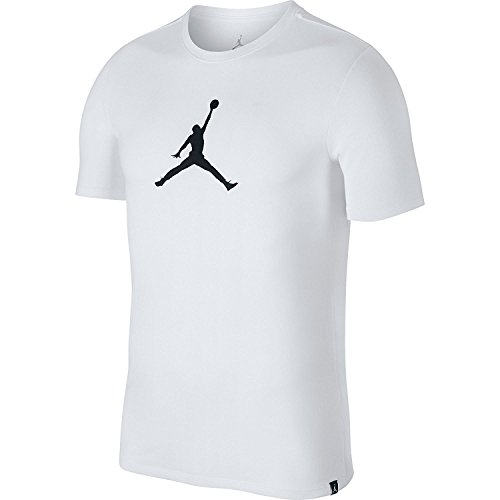Jordan Mens Dry JMTC 23/7 Jumpman Basketball T-Shirt White/Black Size Small For Sale