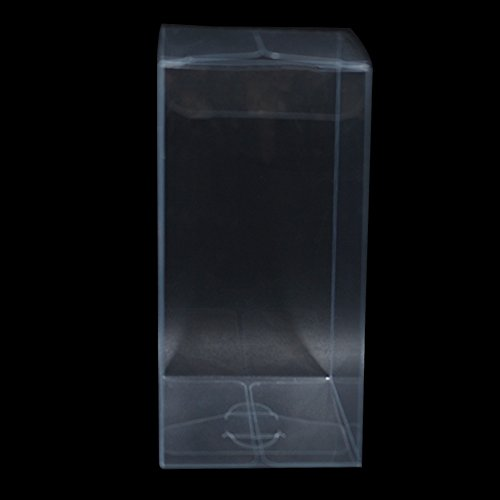 Variety Size Clear PVC Gift Present Candy Cupcake Favor Decoration Poly Boxes Transparent Bridal Crafts Arts Invitation Retail Product Wrapping Packaging Box (200, 2.0x2.0x4.7 inch(5x5x12 cm)) by PABCK (Image #2)