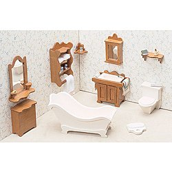 contemporary dollhouse furniture. Interesting Dollhouse Unfinished Wood 10piece Contemporary Bathroom Dollhouse Furniture Kit On