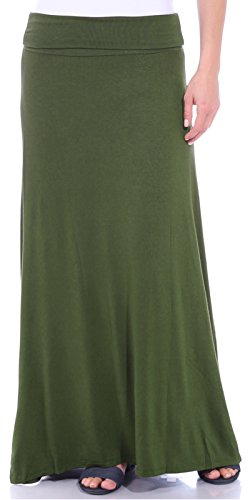 - Popana Women's Casual Long Convertible Maxi Skirt Summer Beach Cover Up Made in USA Olive Large