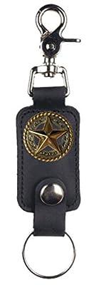 Custom Fancy Gold Star Mascorro Leather Valet Key Fob