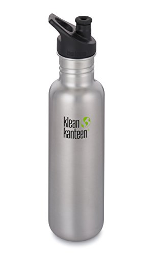 Klean Kanteen Classic Stainless Steel Single Wall Sport Water Bottle with Leak Resistant Sport Cap 3.0-27oz - Brushed Stainless