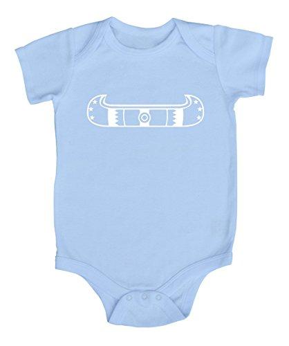 Blue Canoe Onesie - Tribal Canoe Silhouette Baby Bodysuit (3-6 months, Light Blue)