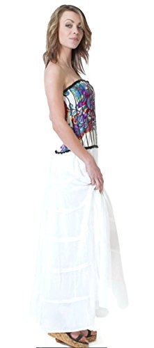 citydress24 - Vestido - trapecio - para mujer blanco