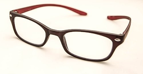 Flex Specs Reading Glasses Designed to Hang Around You Neck-2.50 Magnification - Red Arms