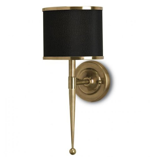 Currey Company 5021 Sconce with Black with Brass Trim Sha...