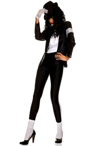 [The Gloved Pop Star Costume - X-Small - Dress Size 0-2] (Billie Jean Costume Jacket)
