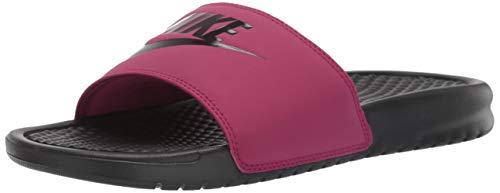 Nike Women's Benassi Just Do It Sandal, True Berry/Burgundy ash, 6 Regular US