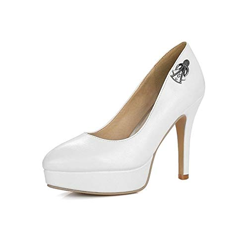Spring Pump Shoes Heels Basic Red Stiletto Women's amp; Heel PU ZHZNVX Red Black Fall Polyurethane Gray 8IBwq