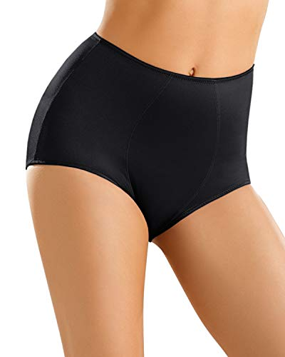 Leonisa Women's Smooth Tummy Control Panty Shaper, Black M