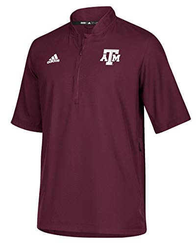 adidas Texas A&M Aggies Sideline Quarter Zip Polo Shirt (Medium) (Adidas Polo Shirt Sideline)