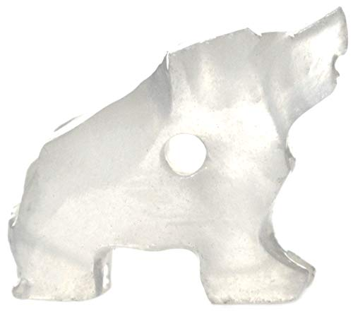 Cloudy White and Clear Bear Pendant, 1